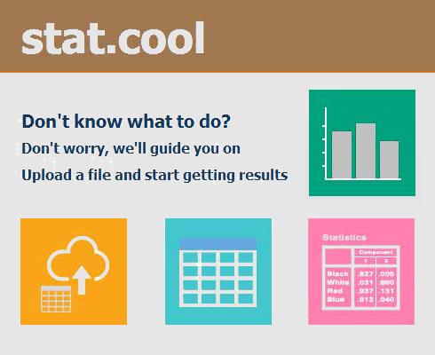 Estatísticas e relatórios grátis Melhor que o SPSS ou outro pacote estatístico. Porquê? STAT.COOL interpreta os resultados e escreve os relatórios automaticamente.